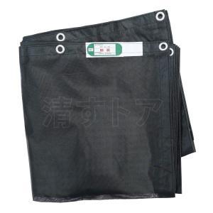 防炎メッシュシート ブラック 1.8x5.4m 450P 解体・建築シート・足場用シート|kiyo-store|02
