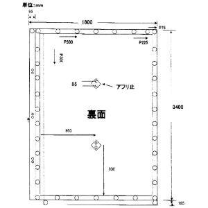 防音シート 軽量 グレー 1.8x3.4m 厚み0.4mm 建設足場用シート・灰色防炎 K|kiyo-store|03