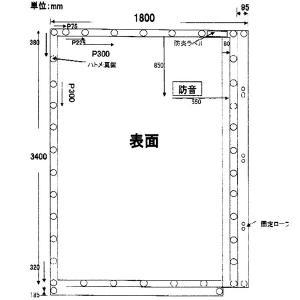 防音シート 軽量 グレー 1.8x3.4m 厚み0.4mm 建設足場用シート・灰色防炎 K|kiyo-store|04