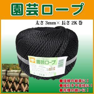 園芸ロープ 結束ひも 太さ3mm×長さ340m 2kg玉巻 人工竹の結束・化粧用に最適!|kiyo-store