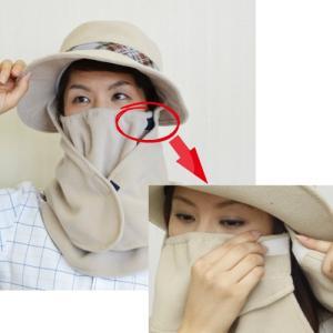 在庫処分! フリースハット 帽子+マスク+ケープの完全防寒 ウインタースポーツから雪かきや農作業、お散歩、通勤、通学に! ベージュ 丸福繊維 910|kiyo-store|04