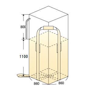 フレコンバック 004 角型・排出口なし・反転ベルト付 10枚 フレコン・トンパック・フレコンバッグ・トン袋・大型土のう|kiyo-store|02