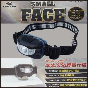 スモール ファイス ヘッドライト USA Cree XP-G LED140ルーメン 薄型コンパクトボディ MacCho MCL-06 NK|kiyo-store