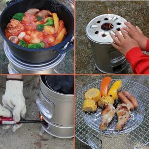 缶ストーブ tab.タブ 径196mm×高276mm 調理やたき火、暖房までマルチに使える アウトドアでも緊急時の備えにも役立ちます。 田中文金属|kiyo-store|03