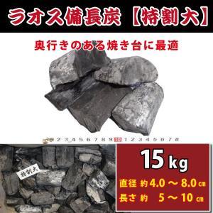 【ラオス備長炭】 特割大 15kg入 奥行きのある焼き台に最適。櫻炭特選備長炭|kiyo-store