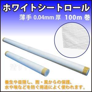 【ホワイトシートロール】 厚0.04mm 幅900mm 100m巻き薄手白シート原反|kiyo-store