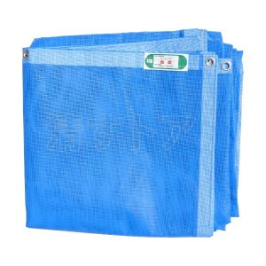 防炎メッシュシート アウトレット ブルー 0.6×5.1m 300P 建設足場用シート・国産青色防炎|kiyo-store|02