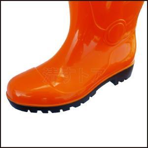 在庫処分!PVC 安全長靴 鋼先芯入り オレンジ 25.5cm ウィズEEE相当 抗菌・防臭生地 アスユニ AS-320 kiyo-store 04