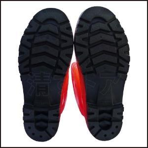 在庫処分!PVC 安全長靴 鋼先芯入り オレンジ 25.5cm ウィズEEE相当 抗菌・防臭生地 アスユニ AS-320 kiyo-store 05