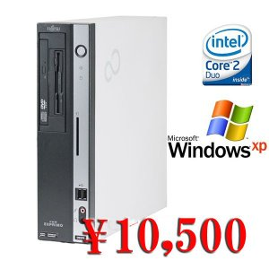 中古デスクトップパソコン 送料無料 Windows XP済  Fujitsu FMV-D5270 Core2Duo-2.66GHz メモリ2GB HDD80GB DVD|kiyoshishoji