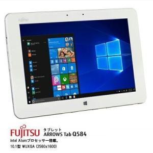 中古富士通タブレット 訳あり Arrows Tab Q584/K 10.1型 2K解像度(2560x...