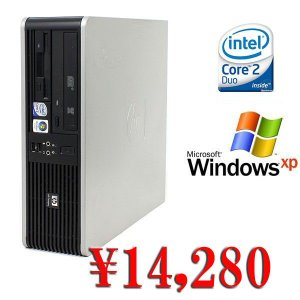中古デスクトップパソコン 送料無料 Windows XP済&DtoD機能 HP DC5800 Core2Duo-3.0GHz メモリ2GB HDD80GB DVD|kiyoshishoji