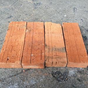 【送料無料】アンティークレンガ 半丁型/レッドブラウン 12個セット