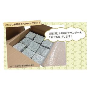 ピンコロ石 御影石 ピンコロ 半丁掛 赤 20個セット 約 90×90×45mm サイズ kiyoshiya 02