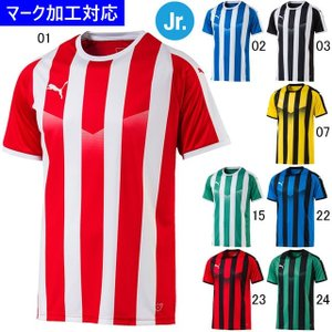 プーマ ゲームウェア LIGA ストライプ ジュニア半袖ゲームシャツ/マーク付き|kiyospo