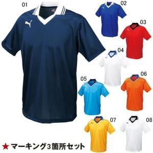 プーマ ユニフォーム 襟付半袖ゲームシャツ/マーク付き|kiyospo