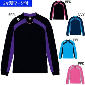 デサント ユニフォーム レディース長袖ゲームシャツ/マーク付き|kiyospo