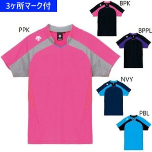 デサント ユニフォーム レディース半袖ゲームシャツ/マーク付...