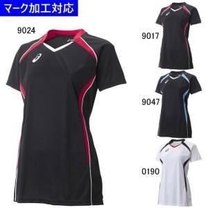 アシックス ユニフォーム レディース半袖ゲームシャツ/マーク付き|kiyospo