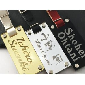高級 ネームプレート ラージ 100×45mm プレゼント ネームタグ ゴルフ