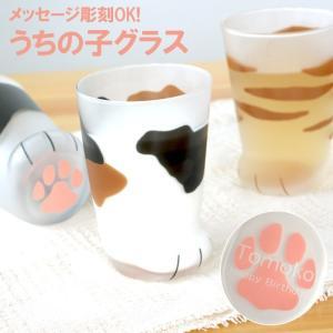 【 名入れOK! うちの子そっくり♪にゃん足グラス 】  ■にゃんともかわいい猫の足の形をしたグラス...