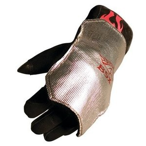 BSX ビーエスエックス アルミニウム コーティング カーボン フェルト 溶接用 バックパッド (手甲) フリーサイズ|kizashi