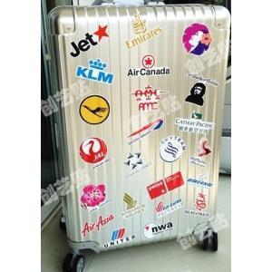 航空 旅行 ステッカー シール 30枚セット スーツケース タブレットPCに|kizashi