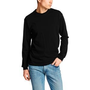 [ヘインズ] ビーフィー ロングスリーブ Tシャツ ロンT 長袖 BEEFY-T 1枚組 綿100% 肉厚生地 ヘビーウェイトT 生地が丈夫で肌になじむ メンズ ブラック 日本 L (|kizashi