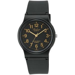 [シチズン キューアンドキュー]CITIZEN Q&Q 腕時計 Falcon (フォルコン) アナログ表示 10気圧防水 ブラック×ゴールド VP46-853|kizashi