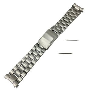 3連 ステンレス 無垢 サイドプッシュ式 腕時計 交換 ベルト 時計バンド バネ棒 付 (04|kizashi