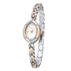 Time100 ダブルトーン チェーンブレスレット 日本製Citizenムーブメント レディース腕時計 #W50170L.01AN|kizashi