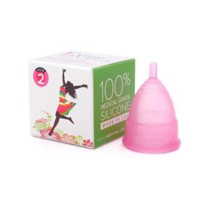 【月経カップ】エヴァカップ(EvaCup)初めてでも使いやすい生理カップ コットンポーチ付き/チェリーブロッサム(ピンク)・サイズ1(スモール)|kizashi