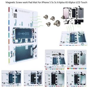 iphone 修理 分解用  磁気 ネジマップ ネジテンプレート ネジ保管シート For iPhone 5 5s 5c 6 6Plus 6s 6sPlus