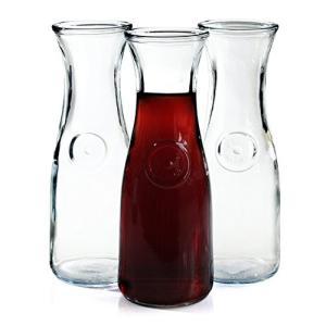 ・Anchor Hocking 0.5 Liter Glass Wine Carafe, Set o...
