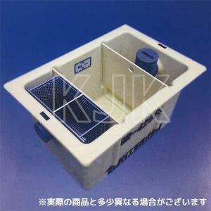 【GR-425F】 《KJK》 プレパイ工業 FRP製 パイプ流入 床置型 グリーストラップ 15L ωλ1 kjk