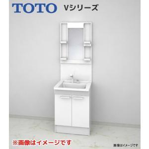 【LDPB060BAGEN1A LMPB060B1GDG1G】 《KJK》 TOTO Vシリーズ 洗面台 幅600 2枚扉 1面鏡(高さ1800mm) ホワイト ωα0|kjk