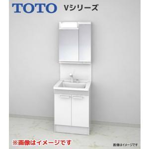 【LDPB060BAGEN1A LMPB060B2GFG1G】 《KJK》 TOTO Vシリーズ 洗面化粧台 セット 幅600タイプ 2枚扉タイプ 二面鏡(高さ1800mm対応) ωα0|kjk