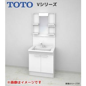 【LDPB075BAGEN1A LMPB075B1GDG1G】 《KJK》 TOTO Vシリーズ 洗面台 幅750 2枚扉 1面鏡(高さ1800mm) ホワイト ωα0|kjk