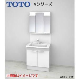 【LDPB075BAGEN1A LMPB075B3GDC1G】 《KJK》 TOTO Vシリーズ 洗面台 幅750 2枚扉 3面鏡(高さ1800mm) ホワイト エコミラーあり ωα0|kjk