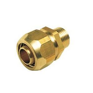 【OK332 13】 《KJK》 オーミヤ BS継手 ポリ管継手オスジョイント 黄銅製 サイズ13水道用、13一般用 ωξ0|kjk
