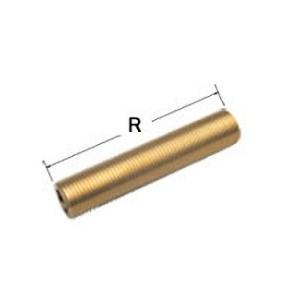 【OK381 13×200】 《KJK》 オーミヤ BS継手 ネジニップル 黄銅製 サイズ13×200 ωξ0|kjk