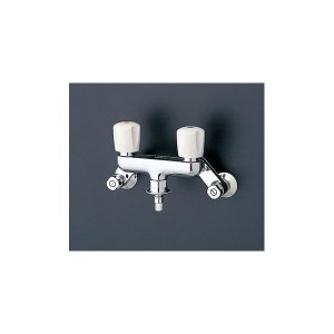 【TW20-1R】 《KJK》 TOTO 水栓 緊急止水弁付洗濯機用水栓 ピタットくん 緊急止水弁付2ハンドル混合栓 ωγ0|kjk