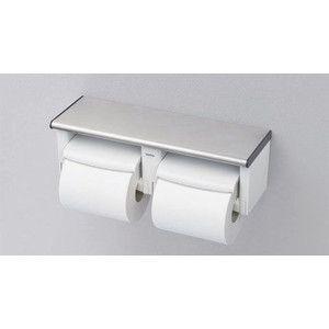 【YH702】 《KJK》 TOTO トイレットペーパーホルダー 棚付二連紙巻器 ωγ0