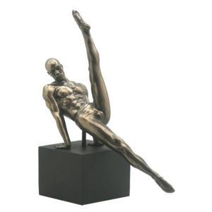 足を上げる男性 ヌード セクシー 体操 ブロンズ風 フィギュア