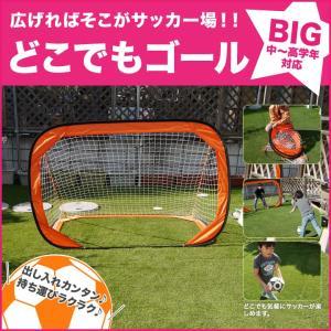 どこでもゴール ビッグ【送料無料】組み立て式サッカーゴール ...