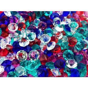 ダイヤカットビーズ★  1粒サイズ:約6mm  カラー:5色・各約50粒入りの全約250粒  素材:...