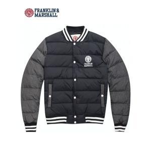セール フランクリン&マーシャル FRANKLIN&MARSHALL ダウンジャケット スタジアムジャンパー ブラック
