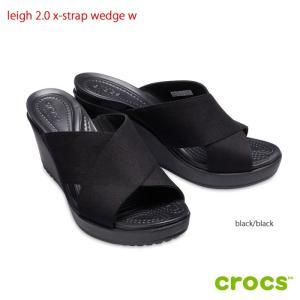クロックス crocs leigh 2.0 x-strap ...