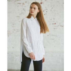 radiance de SYHSE/ラディアンス ド シセ ロングフレア・ドレスシャツ/ホワイト|kkp