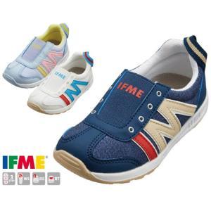 イフミー IFME 30-0114 スニーカー スリッポンシューズ キッズ ジュニア 子供 ネイビー ブルー ホワイト 靴|kksimple